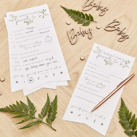 Botanical Baby, Advice for the parents to be, Baby Shower Game